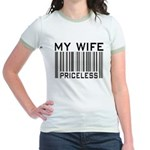 My Wife Priceless Barcode Jr. Ringer T-Shirt