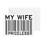 My Wife Priceless Barcode Greeting Cards (Package