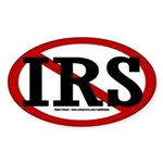 """NO"" IRS Oval Sticker"