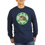 Wet Pond Frog Long Sleeve Blue T-Shirt