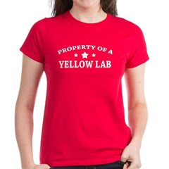 Property of a Yellow Lab Women's Dark T-Shirt