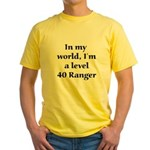 Level 40 Ranger Yellow T-Shirt