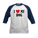 Love My Dog Kids Baseball Jersey