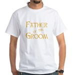 Sherbet Father of the Groom White T-Shirt