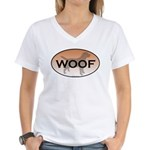 Labrador Woof Women's V-Neck T-Shirt