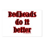 """Redheads do it better"" Postcards (8)"