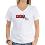 DogWire Logo Women's V-Neck T-Shirt