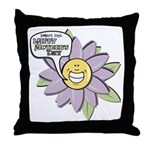 Happy Mother's Day Purple Flower Throw Pillow