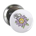 "Happy Mother's Day Purple Flower 2.25"" Button (100"