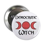 """Democratic Witch"" Button"