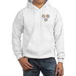 Pretty Mother's Day Cartoon Flowers Hooded Sweatsh