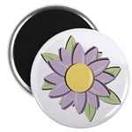 "Purple Cartoon Flower Spring 2.25"" Magnet (10 pack"