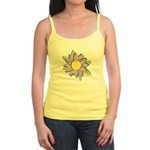 Purple Cartoon Flower Spring Jr. Spaghetti Tank