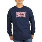 Pink World's Best Mom Plaque Long Sleeve Dark T-Sh