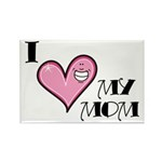I Love Heart My Mom Mother's Day Rectangle Magnet
