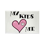 My Kids Love Heart Me Mom Teacher Rectangle Magnet