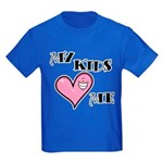 My Kids Love Heart Me Mom Teacher Kids Dark T-Shir