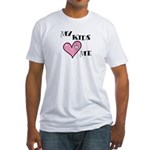 My Kids Love Heart Me Mom Teacher Fitted T-Shirt