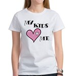 My Kids Love Heart Me Mom Teacher Women's T-Shirt