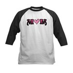 Tattoo Mom Pink Heart Mother's Kids Baseball Jerse