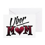 Uber Mom Mother's Day Heart Greeting Cards (Pk of