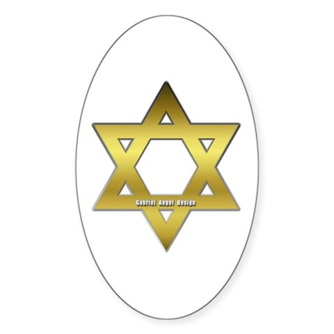 gold star of david. Gold Star of David Decal