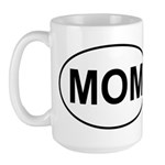 Mom European Oval Mother's Day Large Mug