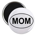 "Mom European Oval Mother's Day 2.25"" Magnet (10 pa"