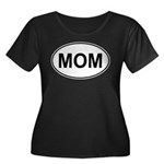 Mom European Oval Mother's Day Women's Plus Size S