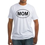 Mom European Oval Mother's Day Fitted T-Shirt