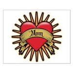 Red Heart Tattoo Mom Mother Small Poster