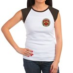 Red Heart Tattoo Mom Mother Women's Cap Sleeve T-S