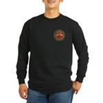 Red Heart Tattoo Mom Mother Long Sleeve Dark T-Shi
