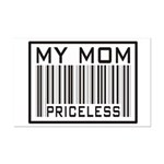 My Mom Priceless Barcode Mini Poster Print