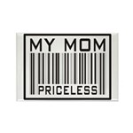 My Mom Priceless Barcode Rectangle Magnet (100 pac