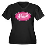 Pink Mom is my Idol Logo Women's Plus Size V-Neck