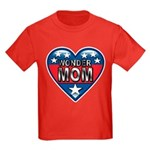 Heart Wonder Mom Mother's Kids Dark T-Shirt