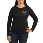 Heart Wonder Mom Mother's Women's Long Sleeve Dark