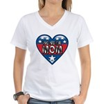 Heart Wonder Mom Mother's Women's V-Neck T-Shirt