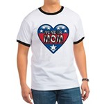 Heart Wonder Mom Mother's Ringer T