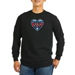 Heart Wonder Mom Mother's Long Sleeve Dark T-Shirt