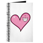 Pink Heart Cartoon Smile Smiley Journal