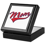 Baseball Style Swoosh Mom Keepsake Box