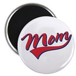 "Baseball Style Swoosh Mom 2.25"" Magnet (100 pack)"