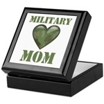 Military Mom Camouflage Camo Heart Keepsake Box
