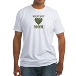 Military Mom Camouflage Camo Heart Fitted T-Shirt