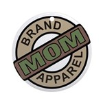 Mom Name Brand Apparel Logo Ornament (Round)
