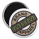 Mom Name Brand Apparel Logo Magnet