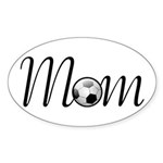 Pretty Soccer Mom Mother's Day Oval Sticker