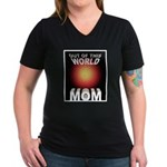 Out of this World Sci-Fi Mom Women's V-Neck Dark T